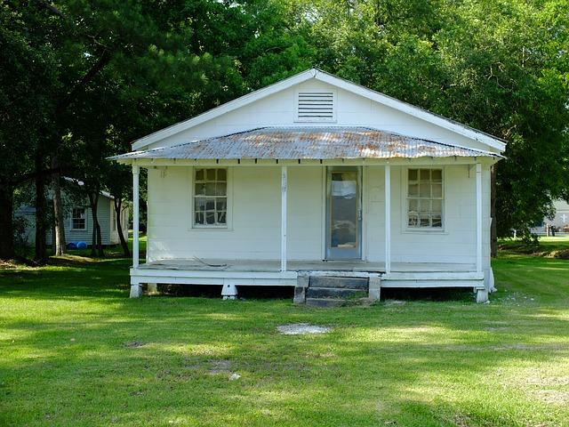 bílý bungalov